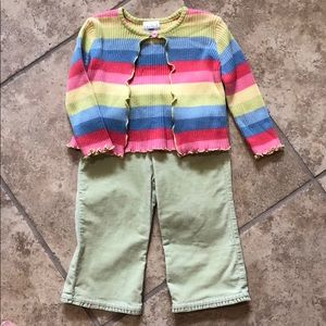 The Children's Place Sweater Pants Set, Size 18M